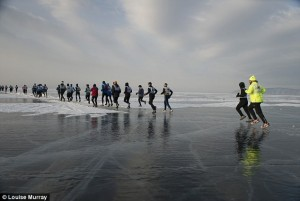 On the way - lake Baikal ice marathon